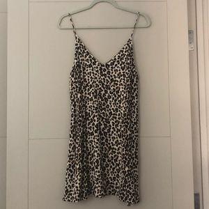 Aritzia leopard print mini dress